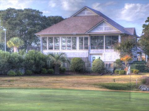 Poolhouse View from 18th Green